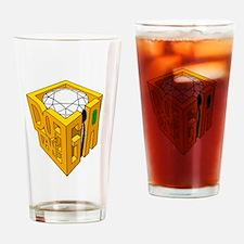 GIA transparent diamond green stone Drinking Glass