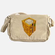 GIA transparent diamond green stone Messenger Bag