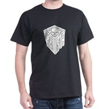 GIA black lines white background T-Shirt