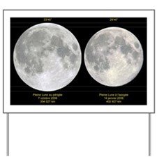 Variation in apparent lunar diameter - Yard Sign
