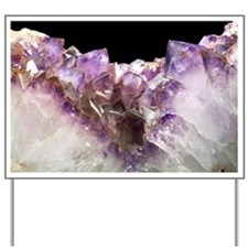 Amethyst crystals - Yard Sign