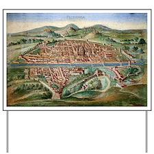 16th Century Plan of Florence - Yard Sign