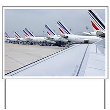 Aircraft at Charles de Gaulle Paris - Yard Sign
