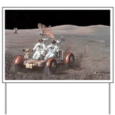 Apollo lunar rover, artwork - Yard Sign