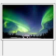 Aurora borealis in Alaska - Yard Sign