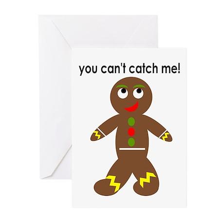 gingerbread man Greeting Cards (Pk of 10)