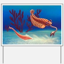 Cambrian animals, artwork - Yard Sign