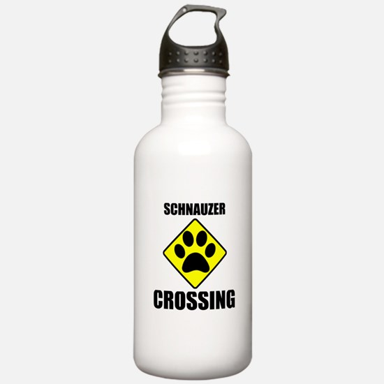 Schnauzer Crossing Water Bottle