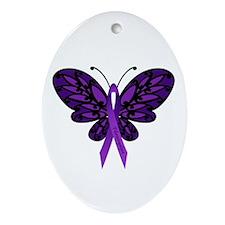 Fibromyalgia Awareness Ornament (Oval)