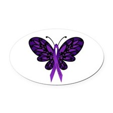 Fibromyalgia Awareness Oval Car Magnet