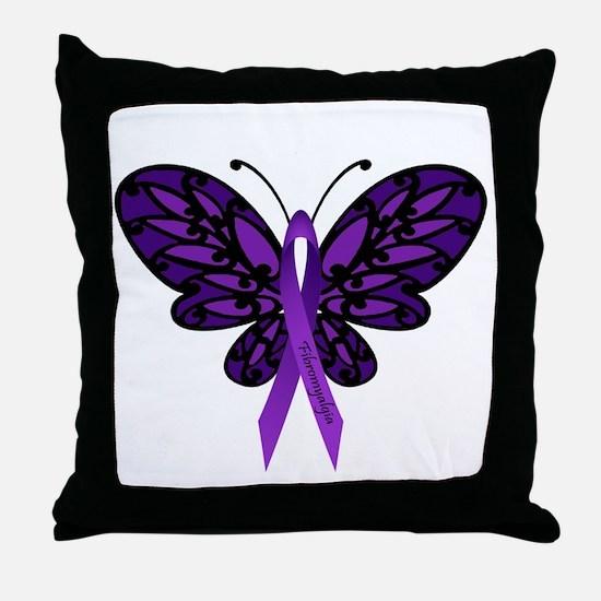 Fibromyalgia Awareness Throw Pillow