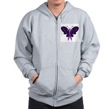 Fibromyalgia Awareness Zipped Hoody