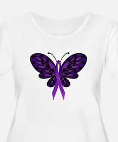 Fibromyalgia Awareness Plus Size T-Shirt
