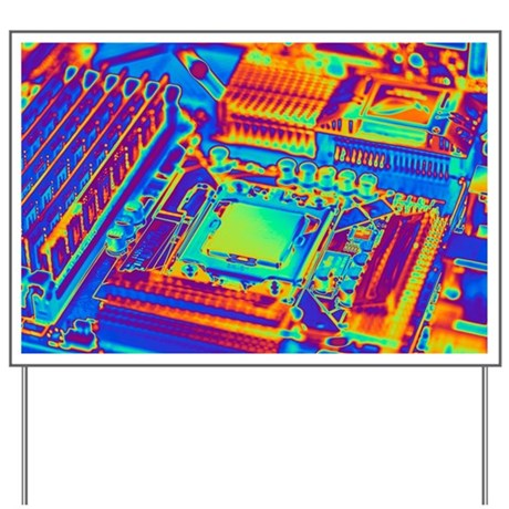 Computer motherboard with core i7 CPU - Yard Sign