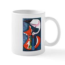 Vintage The Fox and The Stork Matchbox Label Mug