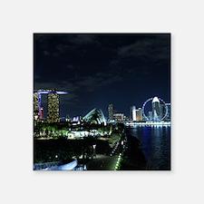 "Singapore Skyline Square Sticker 3"" x 3"""
