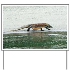 Komodo dragon on a beach - Yard Sign