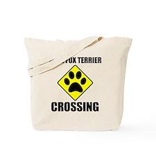 Wire Fox Terrier Crossing Tote Bag