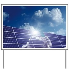 Solar panels in the sun - Yard Sign