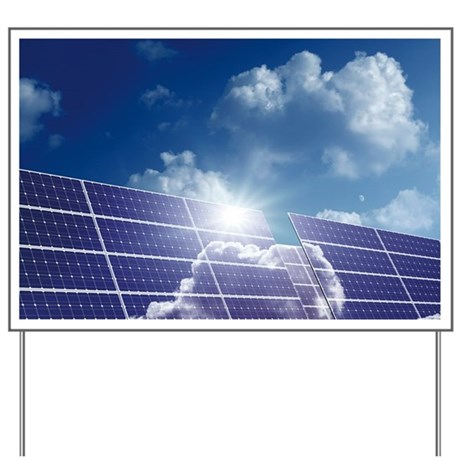 solar panels in the sun yard sign by sciencephotos