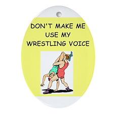 wrestler Ornament (Oval)