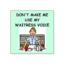 waitress Sticker
