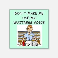 waitress Sticker