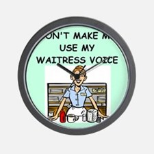 waitress Wall Clock