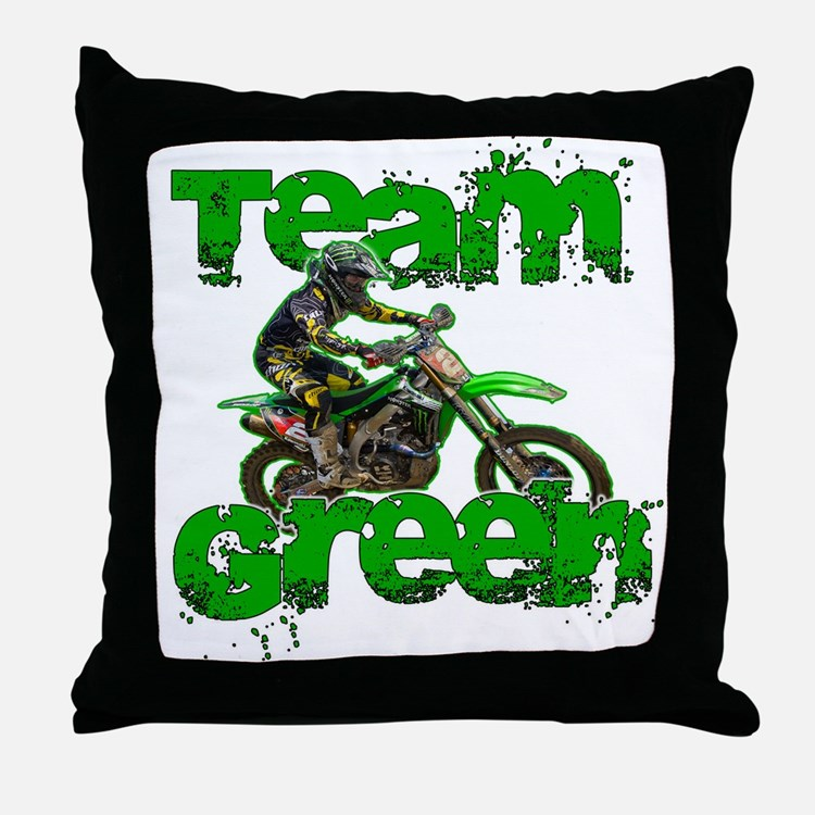 Team Green 2013 Throw Pillow