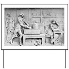 Antoine Lavoisier and wife, chemist - Yard Sign