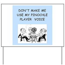 pinochle Yard Sign