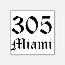 305 Miami 6 Rectangle Sticker