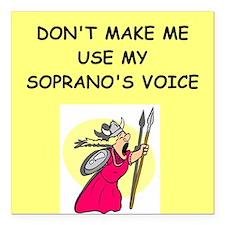 """soprano, Square Car Magnet 3"""" x 3"""""""