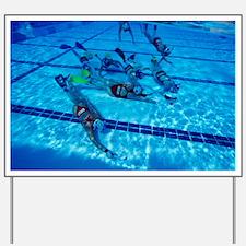 Underwater hockey - Yard Sign