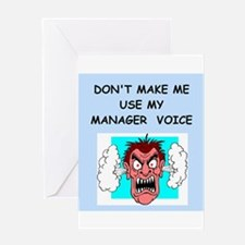 manager Greeting Card
