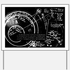 Tsiolkovsky's works on space conquest - Yard Sign