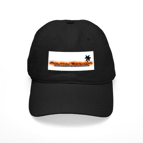 Mouthy Tees Palm Tree Design Black Cap