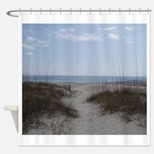 To The Beach 2.png Shower Curtain