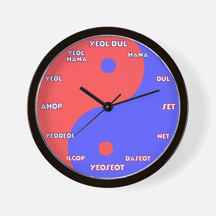 Korean Yin Yang Wall Clock