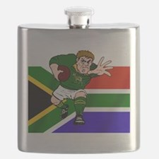 South Africa Rugby Forward Flask