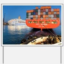 Container ship - Yard Sign