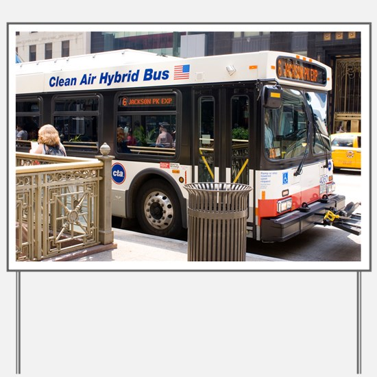 Hybrid bus in Chicago - Yard Sign