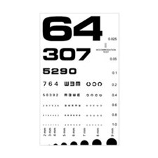 Eye Chart Rectangle Decal