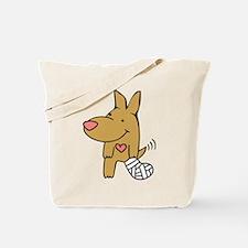 Broken Leg - Wagging Tail Tote Bag