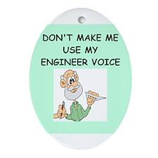 engineer Ornament (Oval)