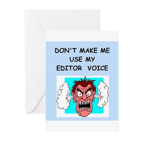 editor Greeting Cards (Pk of 10)