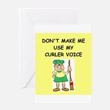 CURLER Greeting Card