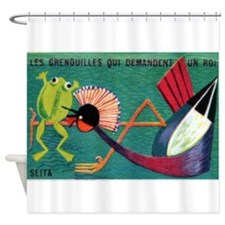 The Frogs Who Desired a King Matchbox Label Shower