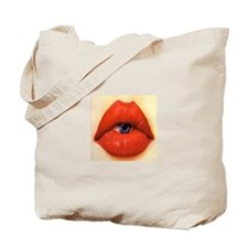 Lip eye Tote Bag