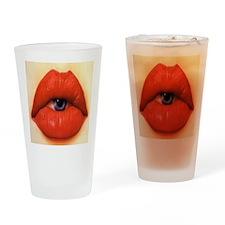 Lip eye Drinking Glass